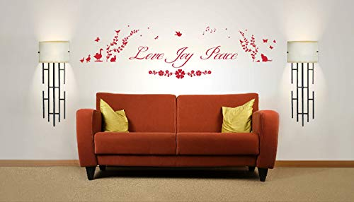Love Joy Peace Cita, Love Joy Peace Cita, Adesivo da parete in vinile, murale, decalcomania,...