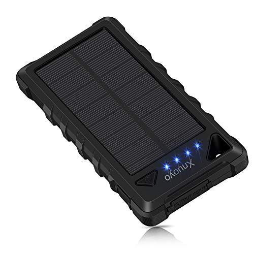 Xnuoyo 20000mAh Caricabatterie Solare Impermeabile Power Bank Solare Portatile Batteria Esterna con...