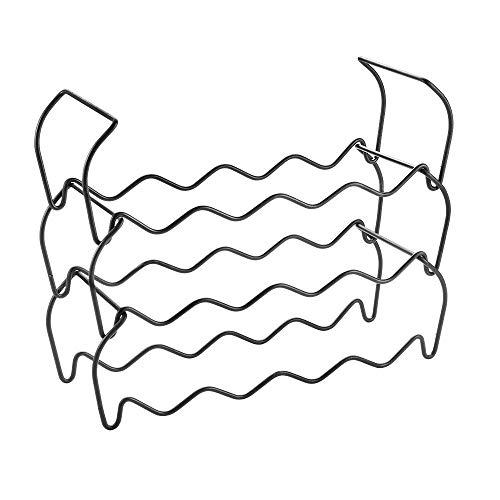 Metaltex Portabottiglie impilabile 12pz, Nero, 44x15x13/34 cm
