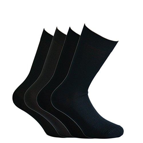 Fontana Calze, 8 paia di calze CORTE in puro cotone Filo di Scozia elasticizzate, confortevoli e...