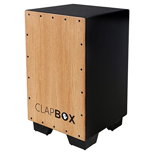 Clapbox Cajon CB11 -Black, Oak Wood (H:50 W:30 L:30) - 3 Internal Snares