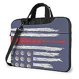 XCNGG Bolsa para portátil a Prueba de Golpes con Bandera de Bate de béisbol, Bolsa de Mensajero Delgada para Hombres, Mujeres, Tableta, Bolso de Mano para Viajes de Negocios