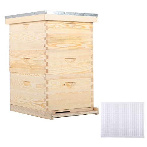 CO-Z Bee Hive with 10 Medium &20 Deep Honeycomb...