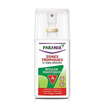 Paranix Répulsif Moustiques – Zones Tropiques et Zones Infestées – Protection 9 H – Spray 90ml