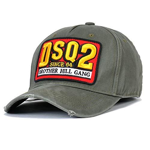 DSQCIOND2 100% Cotone Cappello Uomo Donna Regolabile Lavato Twill Basso Profilo Baseball cap Cappelli,Gray
