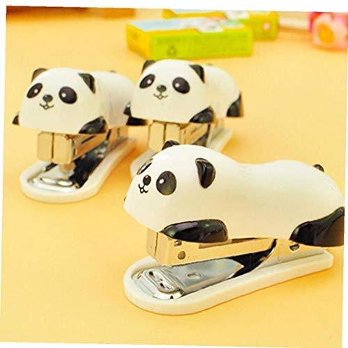 1 Pc Mini Panda cucitrice Fumetto Stabilito Ufficio di banco staionery Graffetta Binding Binder...
