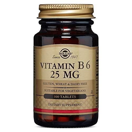 Solgar – Vitamin B6, 25 mg, 100 Tablets