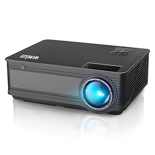 """Projector, WiMiUS P18 3800 Lumens LED Projector Support 1080P 200"""" Display 50,000H LED Compatible with Amazon Fire TV Stick Laptop iPhone Android Phone Xbox Via HDMI USB VGA AV Black"""