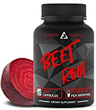 Beet Root Capsules - Concentrated Organic Beet Root Powder Supplement Extracted from Beet Juice - Blood Pressure Supplement - Nitric Oxide Boosting BeetrootSupplement - 2250 MG 120 Capsules