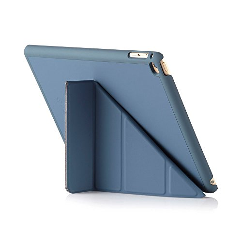 Pipetto Origami iPad Case Air 2 with 5 in 1 stand & auto sleep / wake function Navy