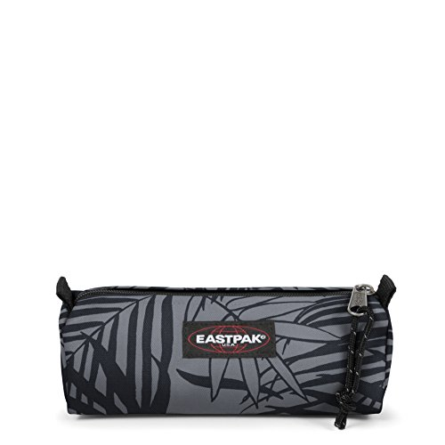 Eastpak Benchmark Single Astuccio, 21 cm, Nero (Leaves Black), poliestere