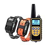 Dog Training Electric Collar, Waterproof Rechargeable 2600ft Remote Dog Shock Collar with LED Light,...