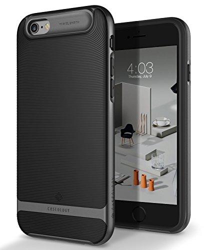 Caseology Wavelength for iPhone 6S Case (2015) / iPhone 6 Case (2014) - Stylish Grip Design - Black