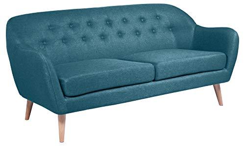 Amazon Brand - Movian Lina - Divano a 2 posti e mezzo, 82 x 184 x 82 cm (Lu x La x A), blu petrolio,...