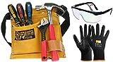 CORVUS Kids at Work Kinder-Werkzeug-Set mit Schutzbrille, Schnittschutzhandschuhe Schnittis von Zite Tools und Werkzeuggütel 02 mit Zubehör 3er Set