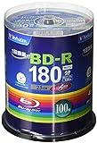 Verbatim バーベイタム 1回録画用 ブルーレイディスク BD-R 25GB 100枚 ホワイトプリンタブル 片面1層 1-6倍速 VBR130RP100SV4
