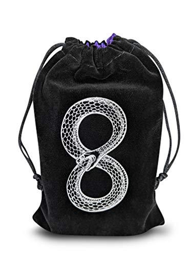 MIRIYAN Mystical Serpent Tarot & Dice Bag I Velvet & Satin...
