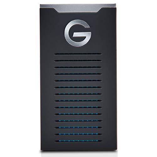 G-Technology G-Drive Mobile SSD R-Series 1 TB (robustes IP67-Gehäuse, schnelle Übertragungsrate bis 560 MB/s, USB-C Schnittstelle, stoß- und erschütterungssichere SSD)