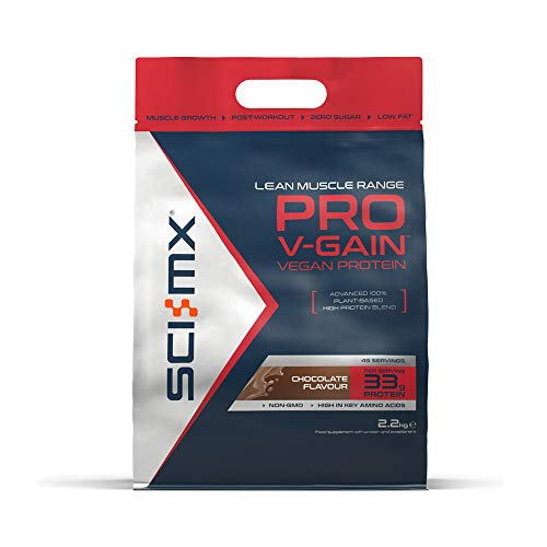 SCI-MX Nutrition Pro V-Gain Protein Powder, Plant Based, 2.2 kg, Chocolate, 49 Servings