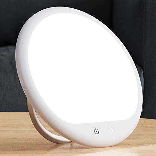 TECHVILLA Light Therapy Lamp, UV-Free 10000 Lux LED Therapy...