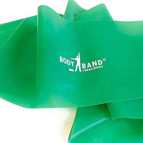 Dittmann® Body-Band Green Strong incl. FTM® Esercizio fascia da fitness tagliata dal rotolo nella lunghezza desiderata...