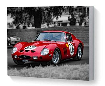 Canvas Print Wall Art Motorsport Rare Ferrari 250 GTO Nick Mason Goodwood Festival of Speed 2018