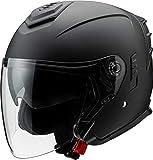 マルシン工業 バイクヘルメット ジェット JE-1 フラットブラック Lサイズ (59-60cm) MSJ2 1002325