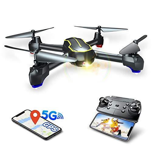 Asbww | Drone 5G - Droni GPS RC FPV con Telecamera HD 1080p per Bambini e Principianti, Quadricotteri con GPS Funzione di RTH / 16 Minuti di Volo / Funzione Seguimi