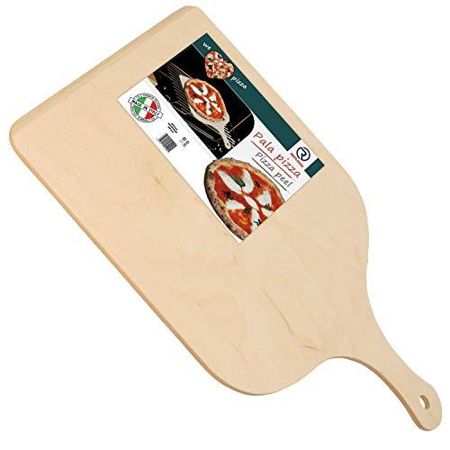 REPLOOD Pala Tagliere Vassoio per Pizza in Legno di Betulla 30 x 42 Cm con Impugnatura