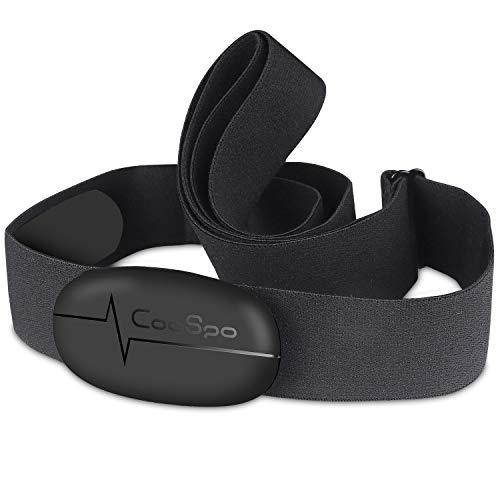 CooSpo Banda de Frecuencia Cardiaca Bluetooth 4.0 Ant+ Monitor Sensor...