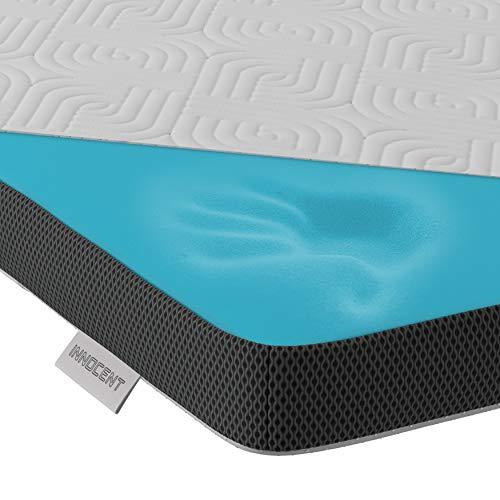 INNOCENT® Gel Mousse surmatelas en Tencel 140x190 cm | 3D Air Flow | Garnitures de Matelas viscoélastiques d'Une Hauteur de 5cm | Surmatelas mémoire de Forme