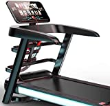 high-end Treadmill Walking Home Treadmill, Color Screen WiFi Foldable Multifunctional Treadmill for The Operation of Fitness Equipment in The House, Conversion to Twelve Speeds