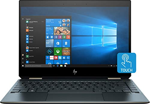 "HP Spectre x360 - 13-aw0000ns - Ordenador portátil de 13.3"" FHD (Intel Core i7-1065G7, LPDDR4-3200 de 8 GB, SSD de 512 GB PCIe NVMe M.2, Windows 10 Home 64) Azul Poseidón - Teclado QWERTY Español"