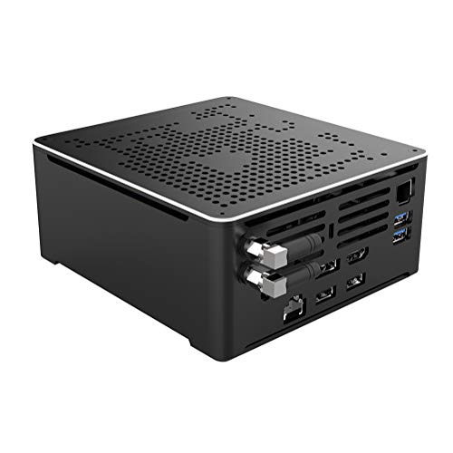 4K Mini PC,Desktop Computer,Intel Core I9 9880H,(Black),[HUNSN BY02],[WiFi/BT4.0/DP/HDMI2.0/TYPE-C/4USB3.0/2USB2.0/2LAN](Barebone,NO RAM DDR4, NO Storage,NO System)