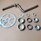 "DONSP1986 2""Cup Wide Pedal Crank Kit, One-Piece Crank, for 2- Stroke Motor,Gas Motorized Bicycle 48cc/66cc/80cc"