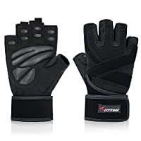 LONG LASTING - Whether your performing intense wods everyday or moderately exercise a few time a week, your gym gloves will last. Tested for High Rep Pull Ups, Kettlebell Swings, Clean and Jerks, Snatches, and other hand taxing lifts. You SAVE money ...