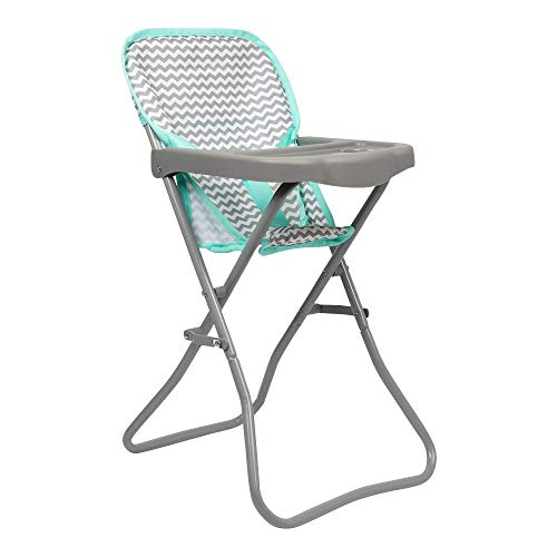 Adora 21962 Baby Doll High Chair Zig Zag Gender Neutral Design, 20.5' High, Can Fitup To 16' Dolls