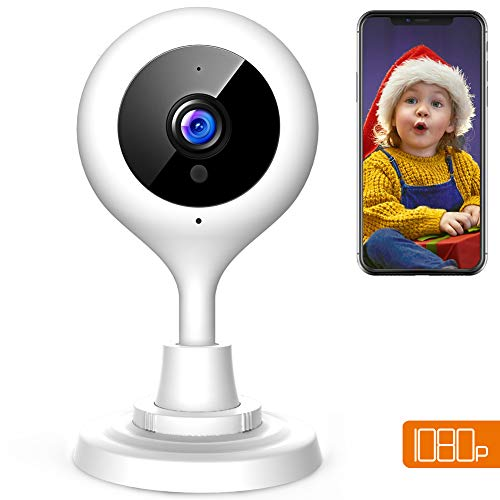 apeman 1080P Telecamera sorveglianza WiFi Interno,Telecamera IP di Sicurezza Wireless, Audio Bidirezionale, Elder/Pet/Baby Monitor,modalità Notturna a Infrarossi, Compatibile con iOS e Android