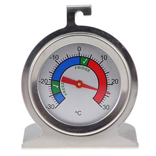 Termometro per congelatore o frigorifero in acciaio inox con zone consigliate per conservare...
