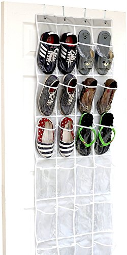 24 Pockets - SimpleHouseware Crystal Clear Over The Door Hanging...