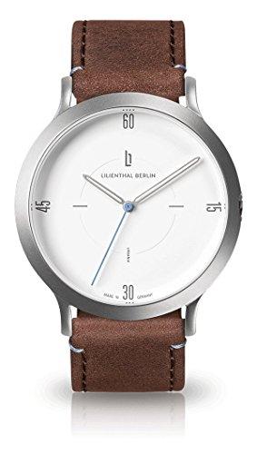 Lilienthal Berlin Unisex Erwachsene Analog Quarz Uhr mit Leder Armband L02-101