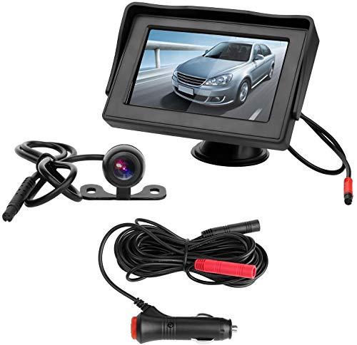 CHANGHUA Caméra de Recul sans Fil - Camera de Voiture Numérique avec Bonne Vision Nocturne, Caméra Etanche IP68 avec 4.3'' LCD Moniteur