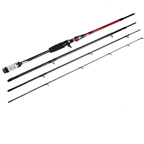 Youth Canna da Pesca 4 Sezione della Strada del Carbonio Sub Rod Stelo Dritto Export Sea Fishing Maniglia Diritta Gun Maniglia Canna da Pesca (Color : B, Size : 2.7m)