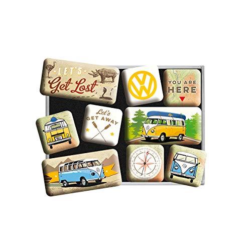 Nostalgic-Art 83080 Volkswagen - VW Bulli - Let's Get Lost, Magnet Set (9pcs)