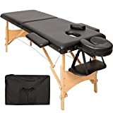 TecTake Table de massage 2 zones pliante cosmetique lit de massage portable...