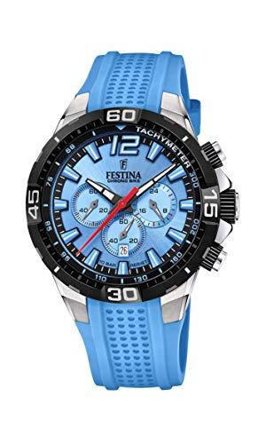 Festina Herren Analog Quarz Uhr mit Silikon Armband F20523/8