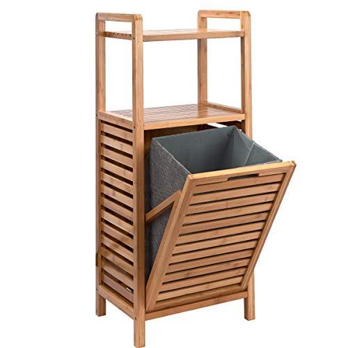 Butlers Big Bamboo Regal mit Wäschekorb - Natur Korb aus Bambus