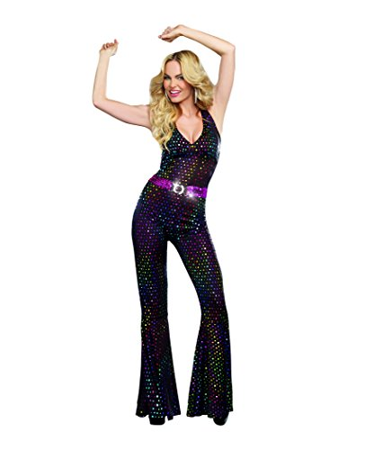Dreamgirl Women's Disco Doll Costume, Black, X-Large