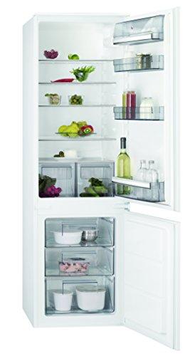 AEG SCB51821LS Einbau Kühl-Gefrier-Kombination mit Gefrierteil unten / 196 l Kühlschrank / 72 l Gefrierschrank / großer Einbaukühlschrank mit Glasablagen / LowFrost / A++ / Einbau-Höhe: 178 cm