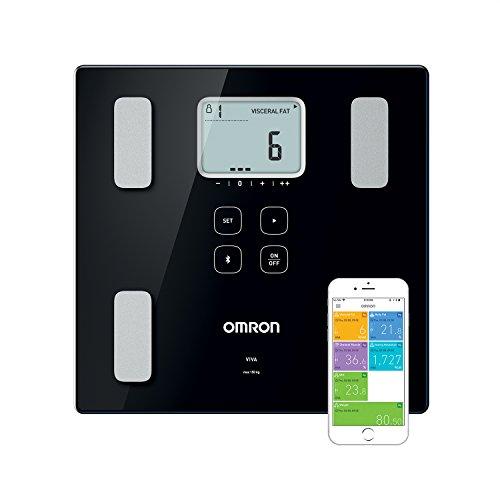 OMRON VIVA : Pèse-personne intelligent Bluetooth, avec moniteur de composition : graisse corporelle, graisse viscérale, musculature squelettique, métabolisme au repos et IMC